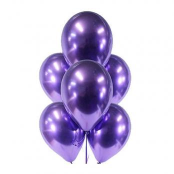Шары латекс Хром фиолетовый