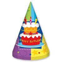 Колпак Торт Birthday 6шт.