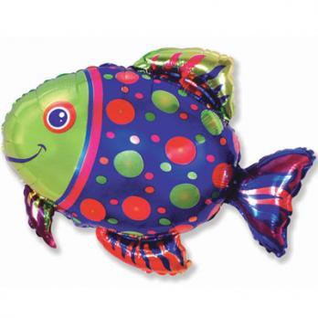 Шар фигура фольга Рыба пятнистая