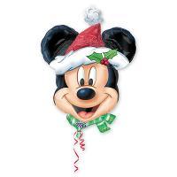 Шар фигура фольга Микки Санта