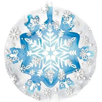 Шар фольга Снежинка