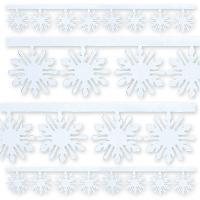 Гирлянда Снежинка фольг белая 3мх10см