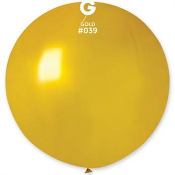 Шар большой 90см. Металлик золотой