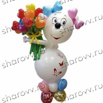 """Фигура из шариков Белый медвежонок"""""""