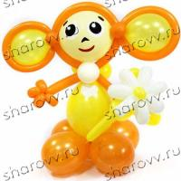 Фигура из шариков Чебурашка