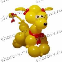 """Фигура из шаров Желтый пудель"""""""