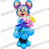 Фигура из шариков Лолимаус с цветами