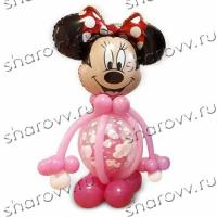 Фигура из шариков Минни сердца