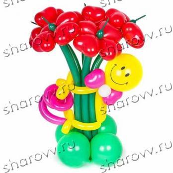 """Фигура из шаров """"Mr Смайл"""""""