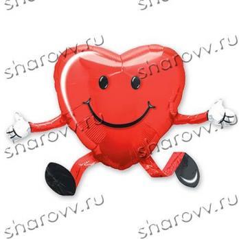 "Фигура из шаров ""Сердце на подставке"""