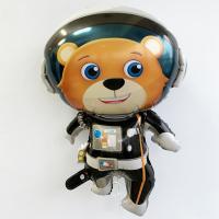 Шар фольга Космонавт Медведь