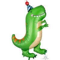 Шар фольга Динозавр зеленый