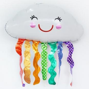 Шар фольга Облако с радужным дождиком