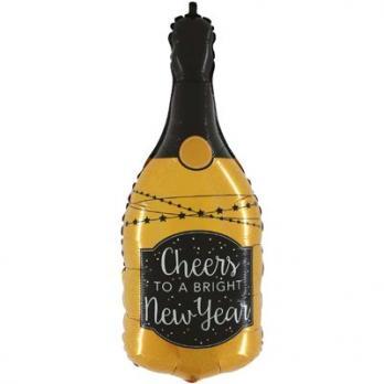 "Шар фольга ""CHEERS NEW YEAR Бутылка шамп"""