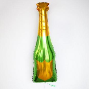 """Шар фольга """"Шампанское зеленое золото"""""""