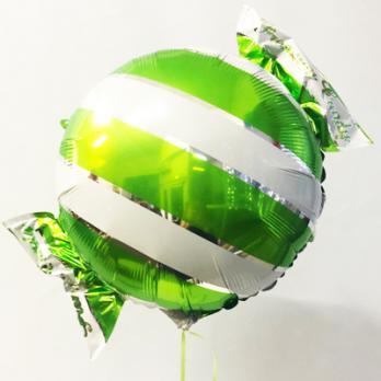 Шар фольга Конфета полоска зеленая