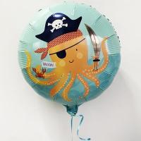 Шар фольга Подводный мир Happy Birthday