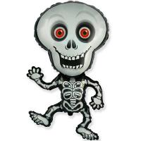 Шар фольга Скелет веселый