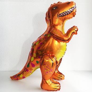 Шар Динозавр Тиранозавр оранжевый
