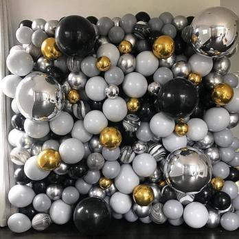 """Фотозона из шариков Стена с агатами"""""""
