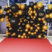 Фотозона из шаров Стена бренда