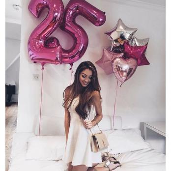 "Набор из шаров ""Happy Birthday Girl"""