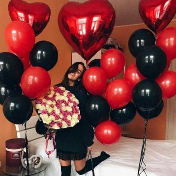 """Сет из воздушных шаров """"Red & Black"""""""