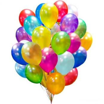 50 воздушных шаров metallik с обработкой