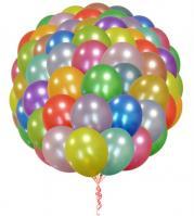 100 воздушных шаров metallik с обработкой
