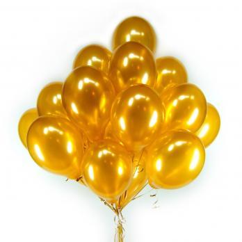 30 золотых воздушных шаров с обработкой