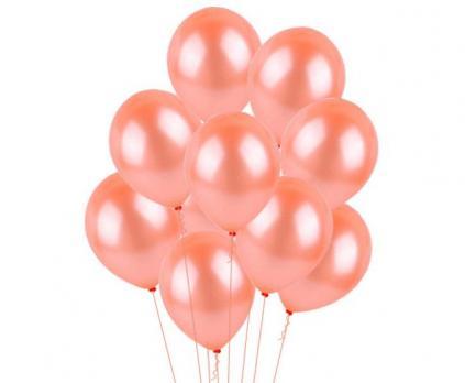 30 воздушных шаров розовое золото с обработкой