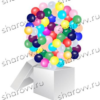 Коробка-сюрприз с мини-шариками