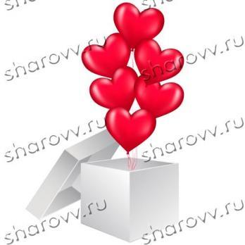 Коробка-сюрприз с сердцами