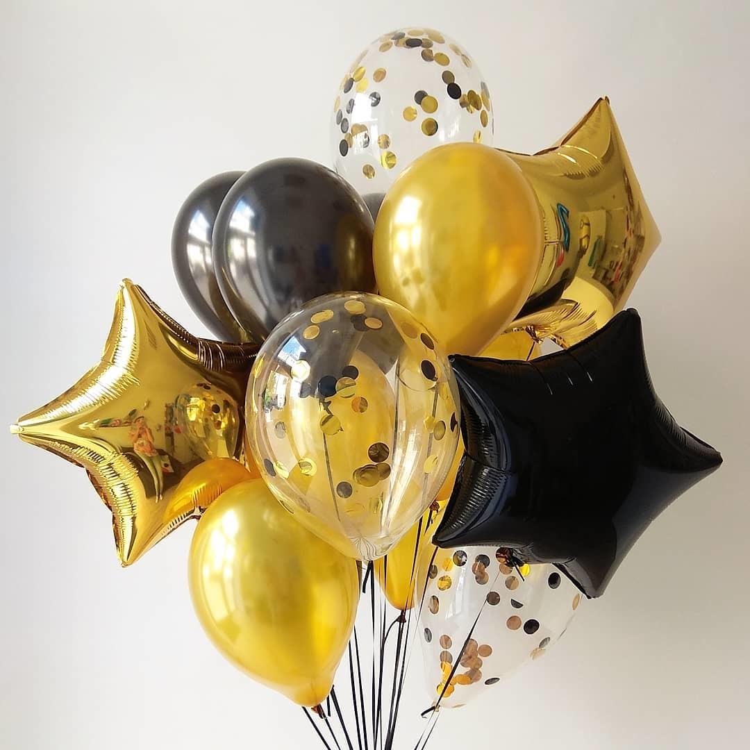 картинки с золотыми шарами кухне