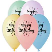 Воздушные шары Happy Birthday ассорти
