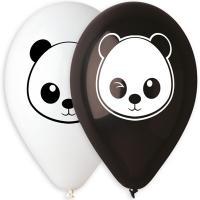 Шары латекс Панды черно-белые