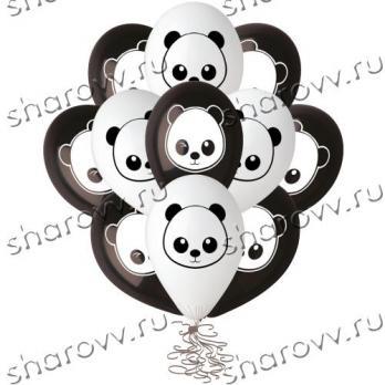 """Шары латекс """"Панды черно-белые"""""""