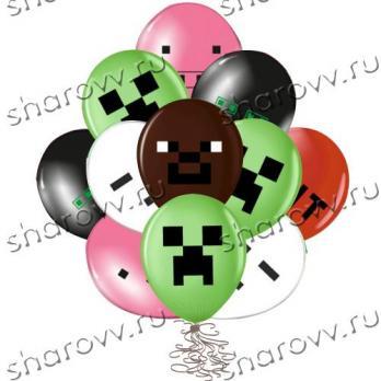 """Воздушные шарики """"Пиксели"""""""