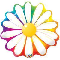 """Шар фигура фольга Цветок Ромашка радуга"""""""