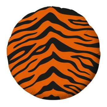 "Шар круг фольга ""Узор Тигр"""