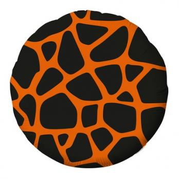 Шар круг фольга Узор Жираф
