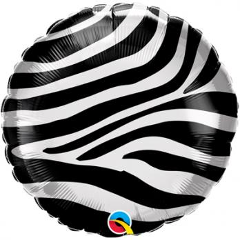 Шар круг фольга Зебра полосы