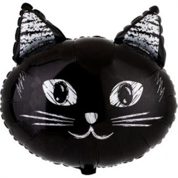 """Шар фигура фольга """"Котик черный"""""""