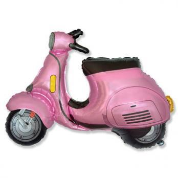 """Шар фигура фольга """"Скутер розовый"""""""