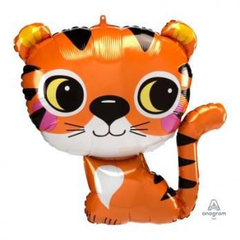 "Шар фигура фольга ""Тигр"""