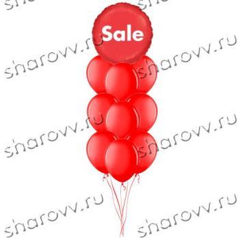 """Фонтан из шаров """"Sale Red"""""""