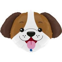 Шарик фольгированный Голова собаки