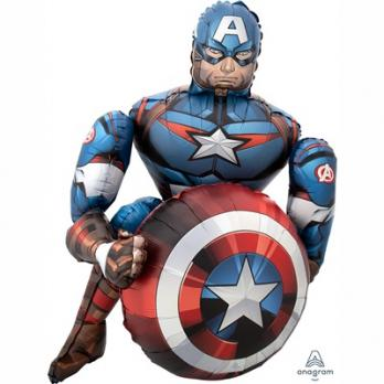 """Ходячий шар """"Мстители Капитан Америка"""""""