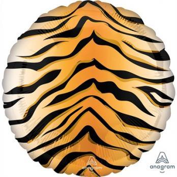 Шар круг фольга Тигр Сафари