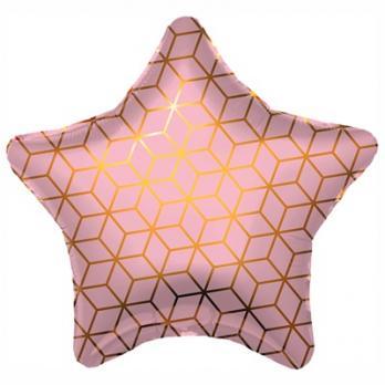 Шарик звезда фольга Геометрия